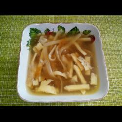 Рецепт: Суп с яичными блинчиками