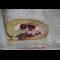 Фото Бисквитный рулет со сливочно-творожным кремом и вишней