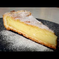 Рецепт: Открытый пирог с творогом