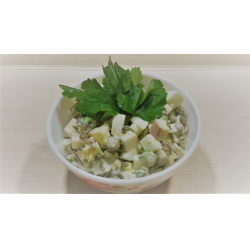 Рецепт: Салат с колбасным сыром