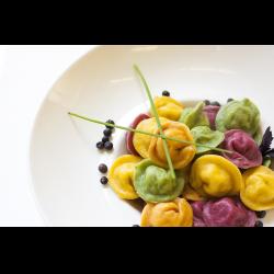 Рецепт: Цветные пельмени