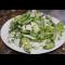 Фото Салат из зелени с сыром и яйцом