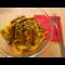 Фото Вегетарианский обед - спагетти с соевым мясом