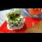 Фото Зеленый салат с перепелиными яйцами
