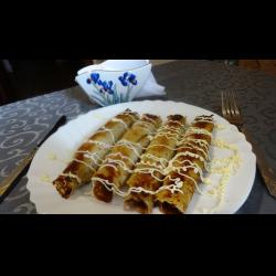 Рецепт: Блины с картошкой и мясом