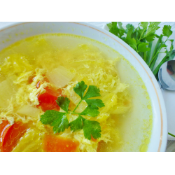 Рецепт: Китайский суп томатно-яичный