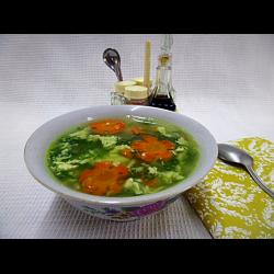 Рецепт: Щи со шпинатом