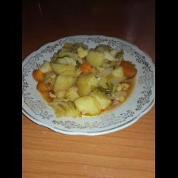 Рецепт: Овощное соте с цветной капустой