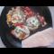 Фото Яичница с помидорами, колбасой и укропом