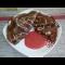 Фото Шоколадные блинчики с узором на молоке