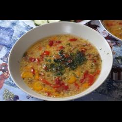 Рецепт: Чечевичный суп на кости