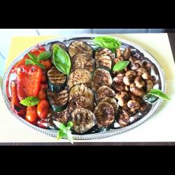 Рецепт: Запеченные на гриле овощи с грибами