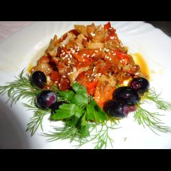 Рецепт: Цветная капуста в овощах