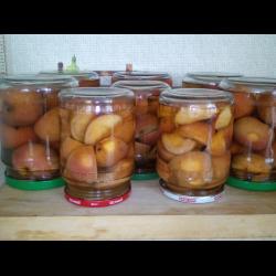 Рецепт: Яблоки в сиропе