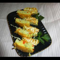 Рецепт: Цветная капуста в бисквитном тесте