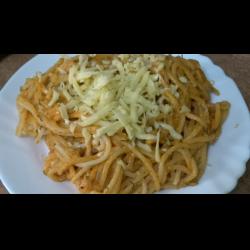 Рецепт: Спагетти в соусе под сыром