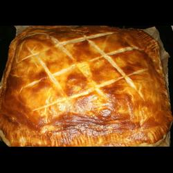 Рецепт: Пирог с курицей, грибами и картошкой