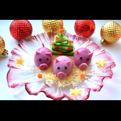 """Рецепт: Фаршированные яйца """"Свинки"""""""