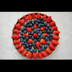 Рецепт: Тарт-чизкейк со свежими ягодами