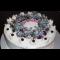 """Фото Нежный праздничный торт """"Рождественский венок"""""""