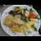 Фото Камбала запеченная с картофелем в сметанном соусе