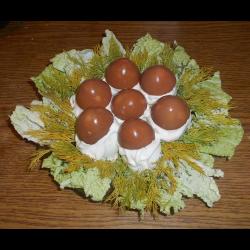 Рецепт: Яйца фаршированные грибами