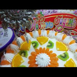 Рецепт: Бисквитный торт на Новый год