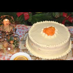 """Рецепт: Торт """"Мандариновый"""" на Рождество"""