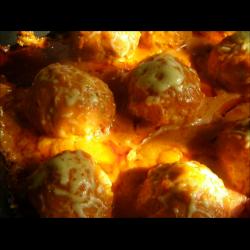 Рецепт: Тефтельки в томатно- сметанном соусе