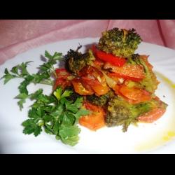 Рецепт: Брокколи с овощами