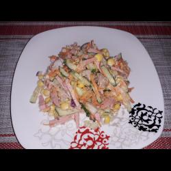 """Рецепт: Салат """"Пикантный"""" с морковкой по-корейски"""