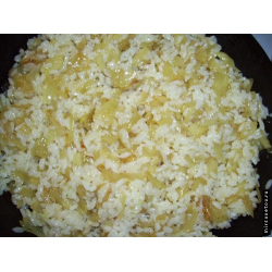 Рецепт: Рис с луком в мультиварке