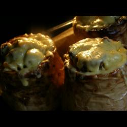 Рецепт: Паста с грибами в тыкве