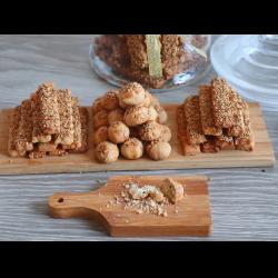 Рецепт: Печенье с кунжутом и с черным тмином