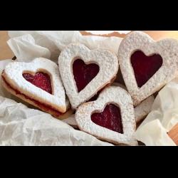 Рецепт: Сердешные печенья