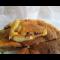 Фото Заливной пирог с фасолью и копченым куриным мясом