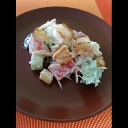 Рецепт: Белковый салат с овощами