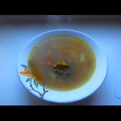 """Рецепт: Суп """"Гороховый с говядиной на косточках"""""""