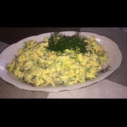 """Рецепт: Салат """"Нежность"""" из копченного сыра"""