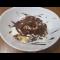 Фото Мороженное с жаренными бананами, грецкими орехами и топленным шоколадом