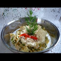 Рецепт: Салат по деревенски с курицей