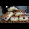 Фото Насыпной пирог с творогом и черной смородиной