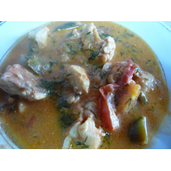 Рецепт: Тушенная рыба по-бразильски