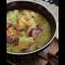 Фото Гороховый суп с мясом и колбасой