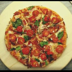 Рецепт: Пицца с варенной курицей