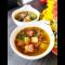 Фото Суп с касслером и морской капустой