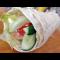 Фото Ветчина в лаваше с овощами и сыром