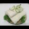 Фото Быстрая шаурма со свежими овощами и зеленью