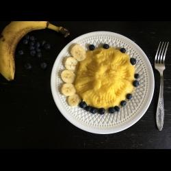 Рецепт: Каша из поленты на завтрак