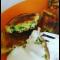 Фото Оладьи с колбасой и сыром